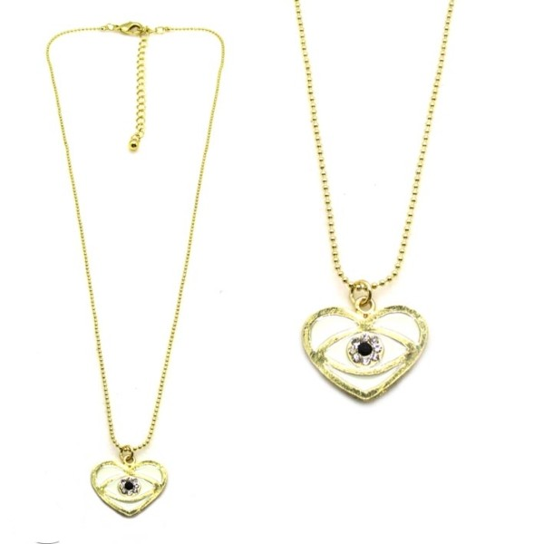 collier fantaisie evil eye