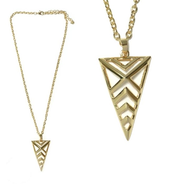 collier fantaisie triangle